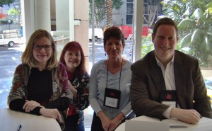 The Wanna Be a Writer Panel: M. Howe, Chris Neri, moi, and Jason Pinter